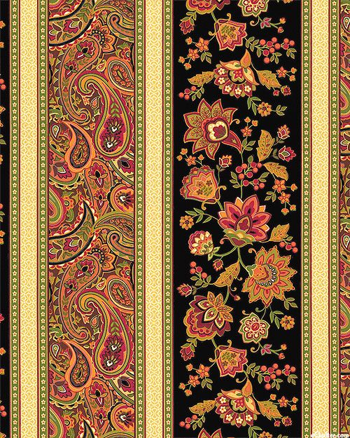 Marigold - Russian Garden Stripe - Black