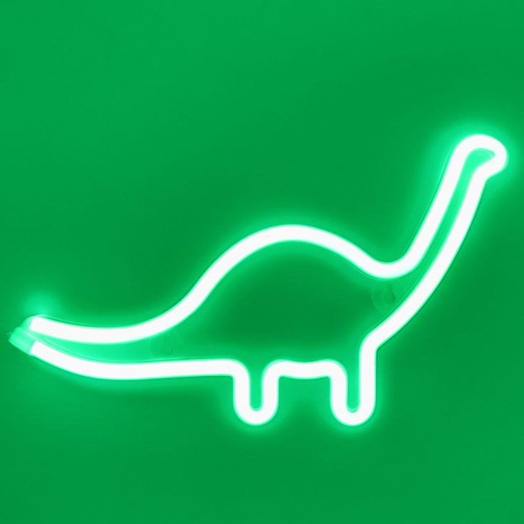 Green dinosaur wall led neon light sign with images