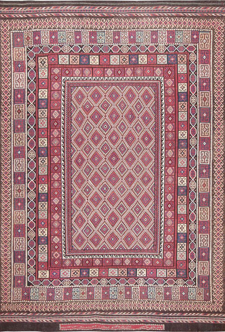 Large Vintage Persian Kilim Carpet 47598 Main Image - By Nazmiyal