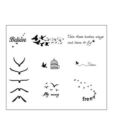 Another great find on #zulily! Fowl Play Temp Tattoos - Set of Two #zulilyfinds  $11