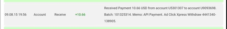 Here is my Withdrawal Proof from AdClickXpress. I get paid daily and I can withdraw daily. Online income is possible with ACX, who is definitely paying - no scam here.  To join ACX : http://www.adclickxpress.com/?r=jmk3uwe2reth&p=mx  Contact me if you have issues :  facebook : https://www.facebook.com/profile.php?id=100010123510132 gmail: ashsixthree.63@gmail.com