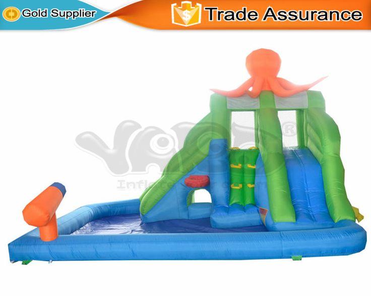 ДВОР Домашнего Использования Надувные Водные Горки с Бассейном Открытый Дворе Партии Замок Игры для Детей