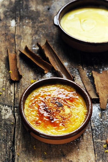 catalan cream #recipe (Crema Catalana). a lemon flavored custard covered with a sweet caramelized sugar layer.