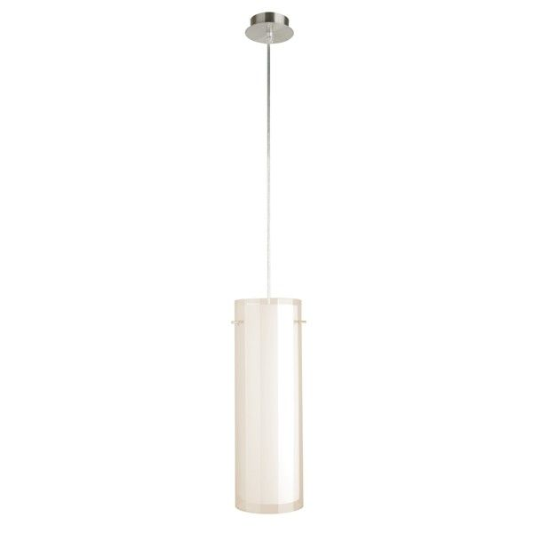 Corso 1 Light Cylinder Double Glass Pendant