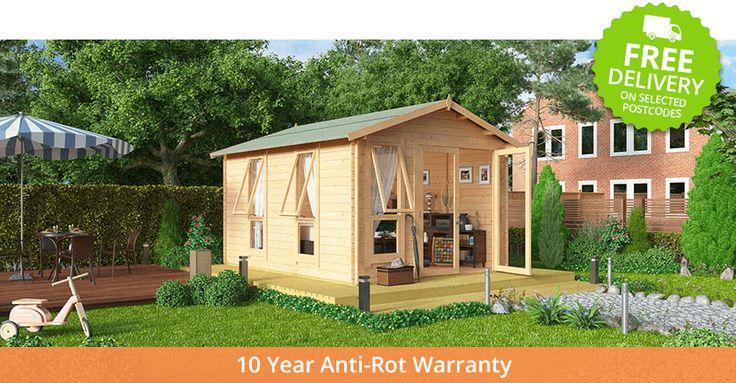Buy a BillyOh Sasha Log Cabin Summerhouse from Garden Buildings Direct