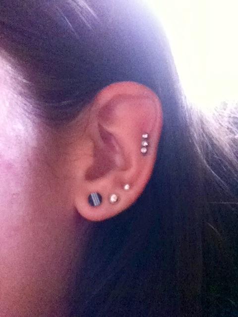10 Gauge Tunnel Earrings Steel Cz Diamond Ear Plugs 10