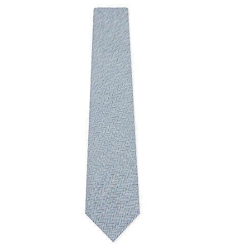HARDY AMIES Herringbone Tie. #hardyamies #ties