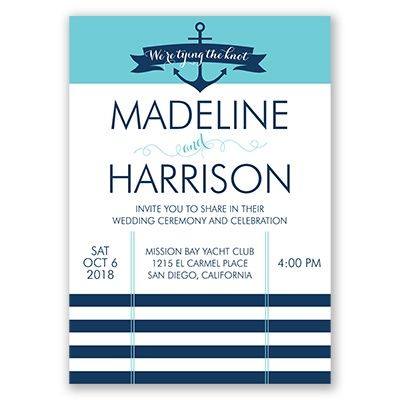nautical themed wedding invitations are perfect for a beach destination wedding check out our tying - Davids Bridal Wedding Invitations