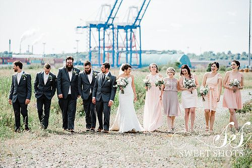 amazing and beautiful bridal party