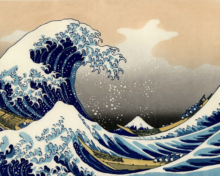 I am not a huge fan of the water or visual art, but I've always loved Japanese prints like this