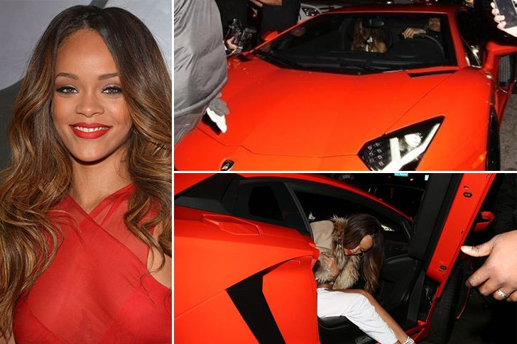 Rihanna – Lamborghini Aventador, Estimated $750K Rihanna is one of the hottest names in music and she received her $750,000 Lamborghini Aventador from ex-boyfriend Chris Brown. Most celebs get rid off old gifts from exes but would you return this stunning car? not likely. RiRi also owns a Porsche 997 turbo, Chevy Suburban and a Chevy Camero.