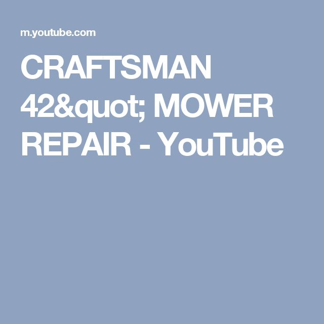 The 7 best mower belt images on pinterest craftsman riding lawn craftsman 42 mower repair youtube fandeluxe Image collections