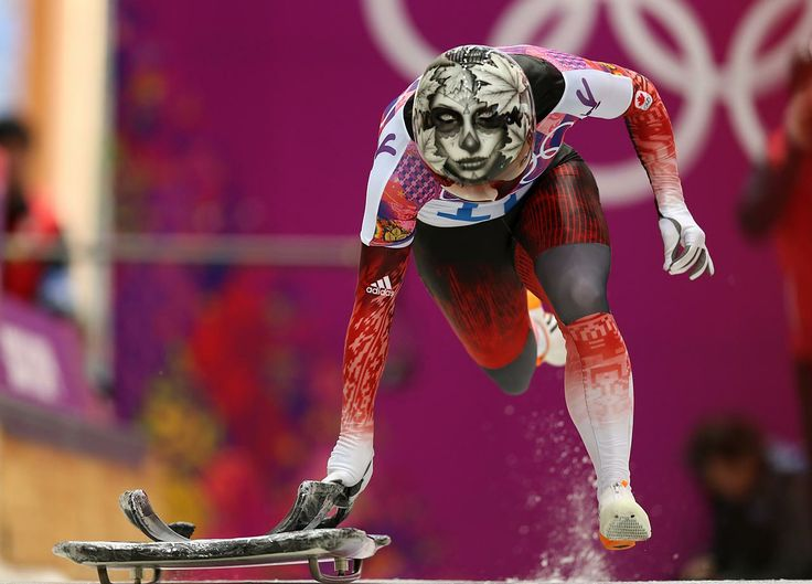 Canada: Sarah Reid gets her run going in the Skeleton #Sochi2014