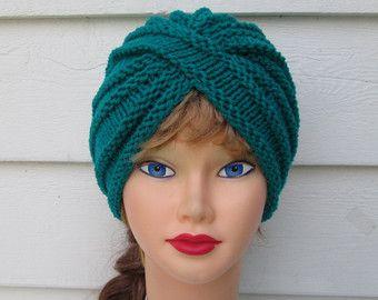 Turbante de moda turbante turquesa turbante punto tejer sombrero mujer invierno sombreros torcidos turbante grueso sombreros sombreros del ganchillo turbante turbantes sombreros del knit