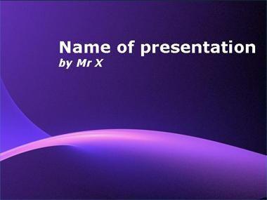Purple Sunshine Powerpoint Template