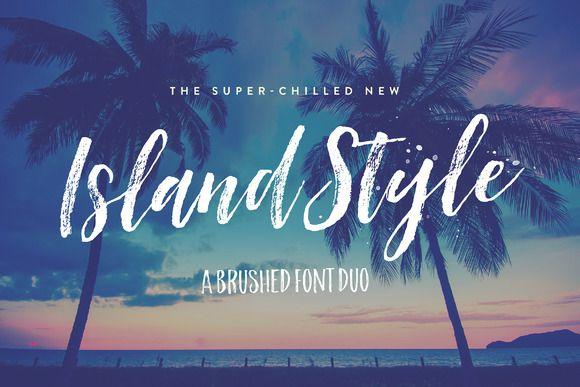 Island Style Brushed Font Duo by Nicky Laatz on @creativemarket. Price $16 #handwrittenfonts #brushfonts #scriptfonts