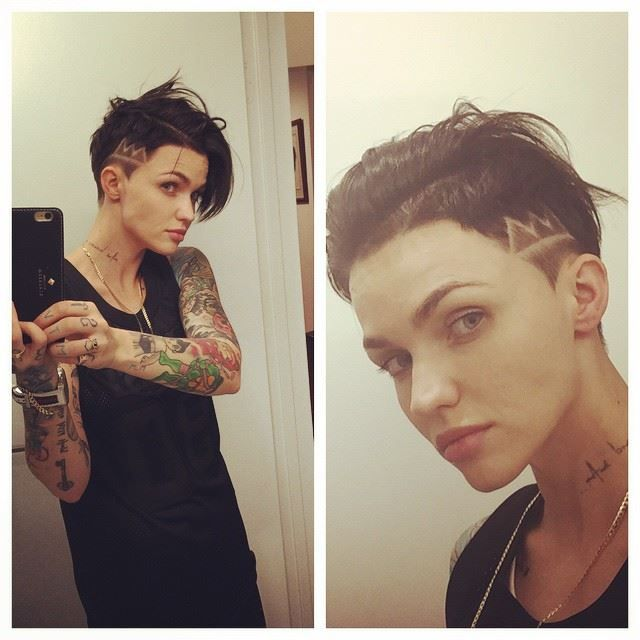 Ruby Rose hair style, January 2015.