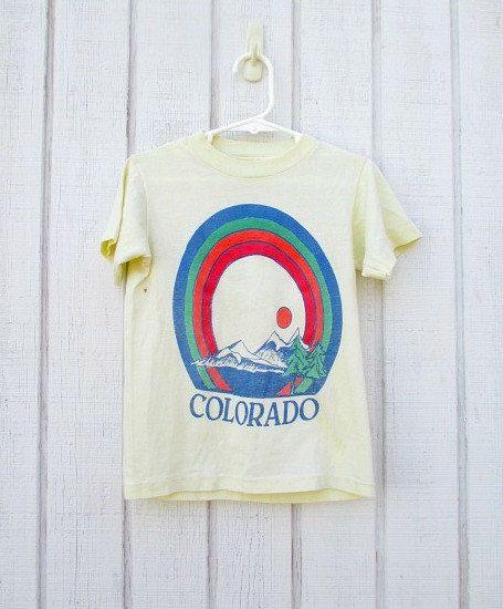 Vintage T shirt Kids Colorado 80's Children's by kerrilendo