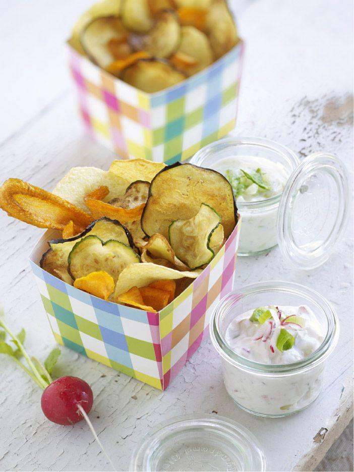 Préparez un(e) délicieux(se) chips de légumes et dips printaniers avec cette recette et régalez vos convives. Bon appétit!