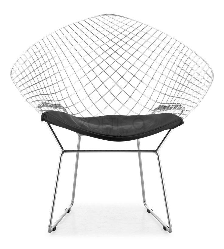 Henry bertoia diamond chair black dining chairs