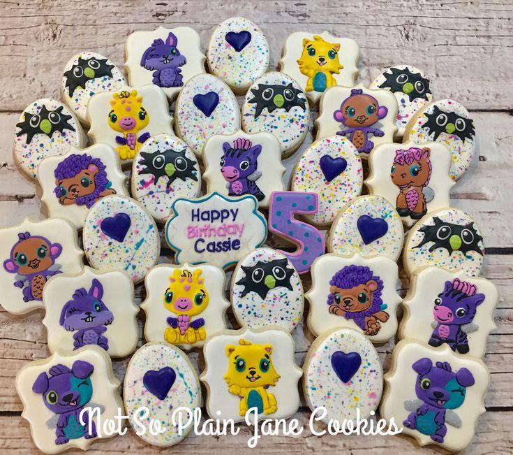 Hatchimal cookies for a 5 year notsoplainjanecookies