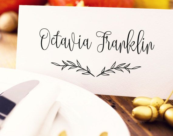 Best Place Card Templates Images On   Card Patterns