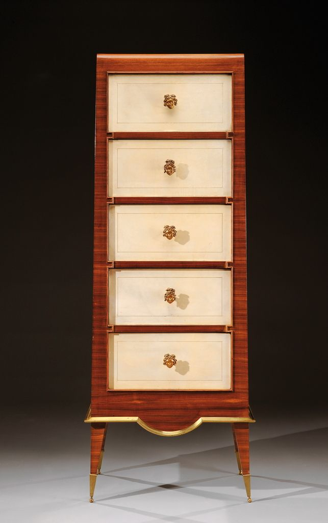 Exceptional Indian Rosewood Veneer, Parchment And Gilded Bronze Storage.  Original Label Of The New. Fine FurnitureWorldu0027s ...