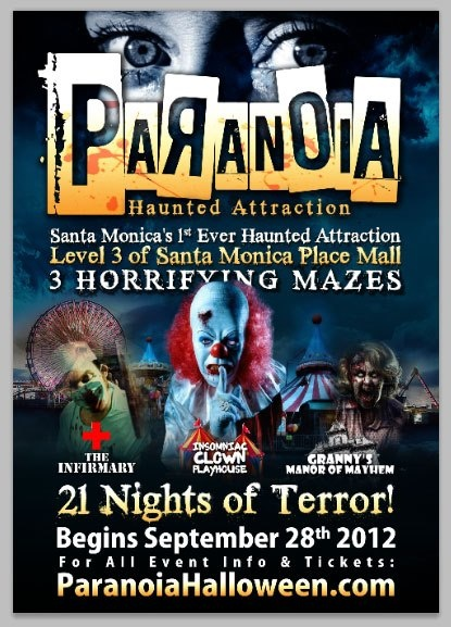 ready to get our scare on at santa monicas 1st ever haunted attraction paranoia - Halloween Attractions In Alabama