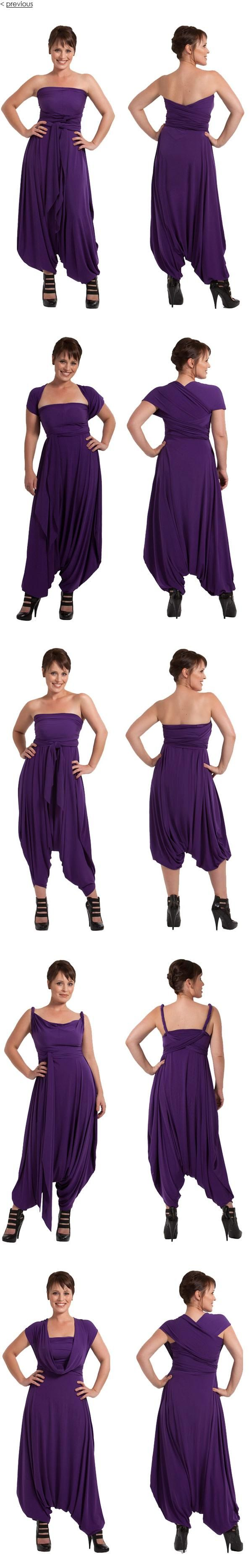 JASMINE - Sass Designs - it's a funky jumpsuit that can also look like a dress.