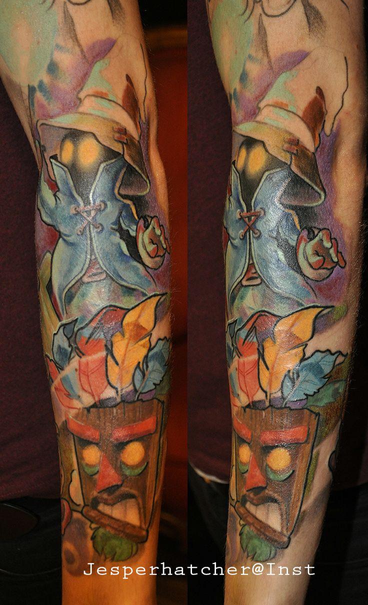Fantasy Tattoo Sleeve: Gamer Sleeve. Final Fantasy And Crash Bandicoot.