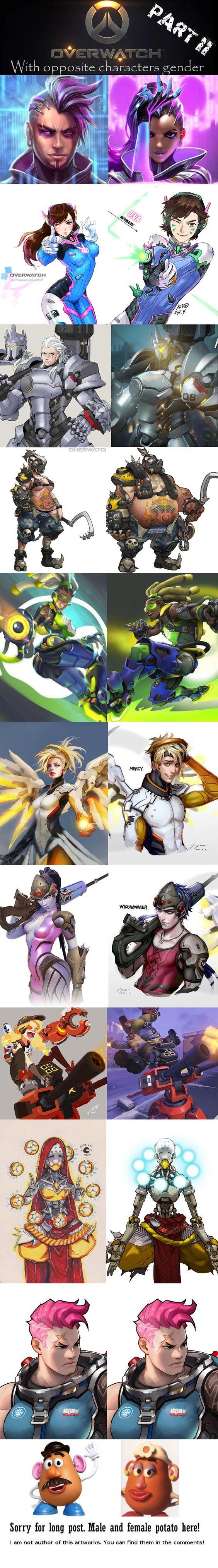 Overwatch characters in opposite gender! Part II