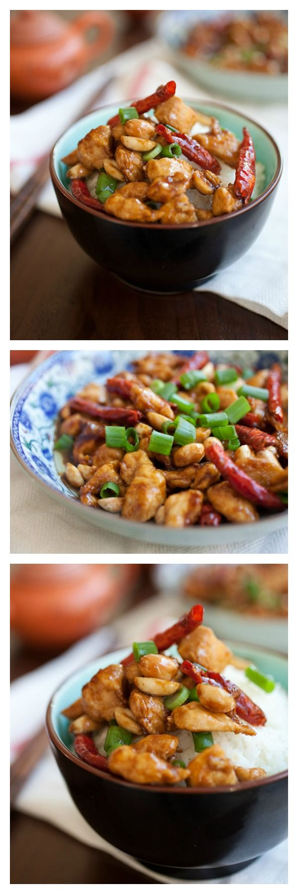{China} Kung Pao Chicken - make your favorite Chinese takeout with this super easy recipe that tastes much BETTER than your regular Chinese restaurant | rasamalaysia.com