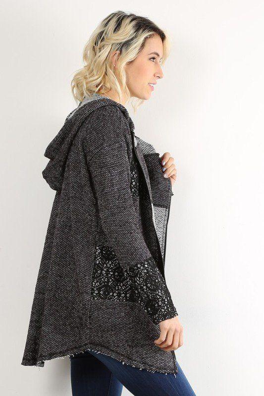 Crochet Zip Up Jacket | Wishtique