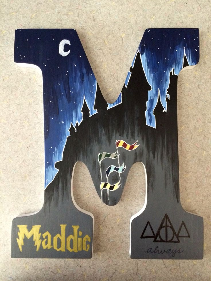 Painted letter!! This is pretty great actually, since my name is practically already on it