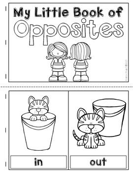 Learning About Opposites:  This download includes a poster set, pairing cards, and a student-made book template. $