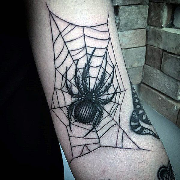 Top 79 Spider Web Tattoo Ideas 2020 Inspiration Guide Web Tattoo Spider Web Tattoo Inner Elbow Tattoos