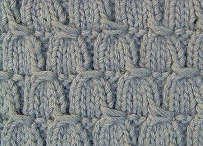 Tassel stitch explained here, knitted carpet.