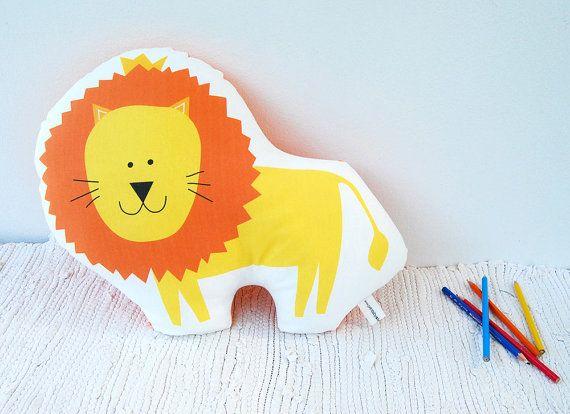 Lion soft toy stuffed animal pillow Decorative cushion