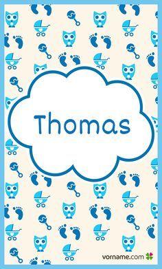 Gefällt Dir der Name Thomas? Finde heraus, wo der schöne Jungenname herkommt, was er bedeutet, wann sein Namenstag ist und vieles mehr. Alle Infos zum Namen Thomas auf Vorname.com entdecken!