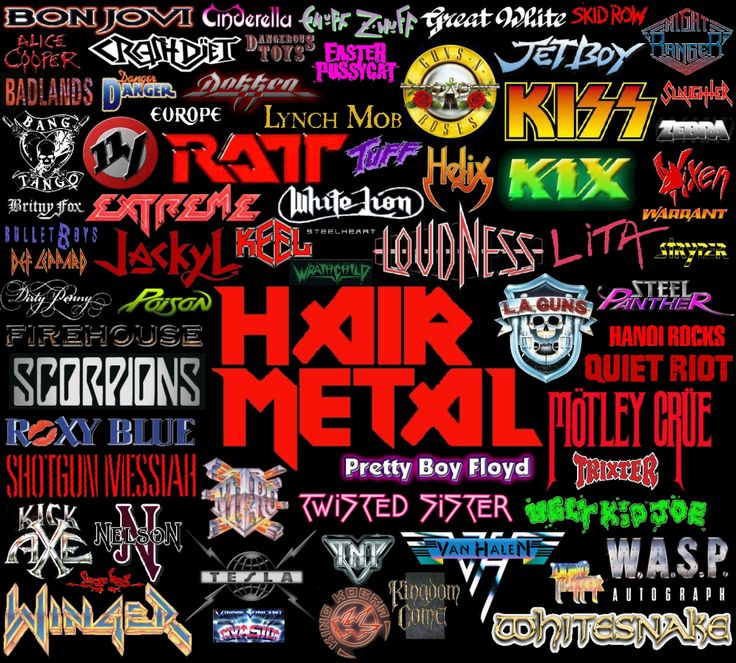 ...even though GNR is really in a category all on their own...  My husband and I own at least one song, if not multiple albums, by each of these bands.