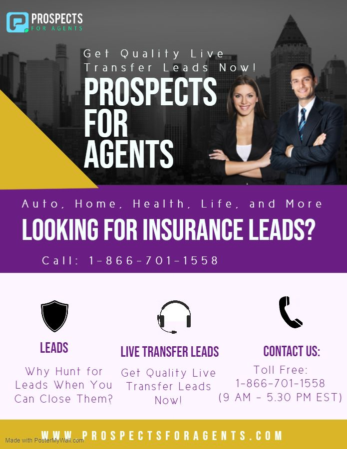We Are The Leading Provider Of Sales Leads For The Insurance