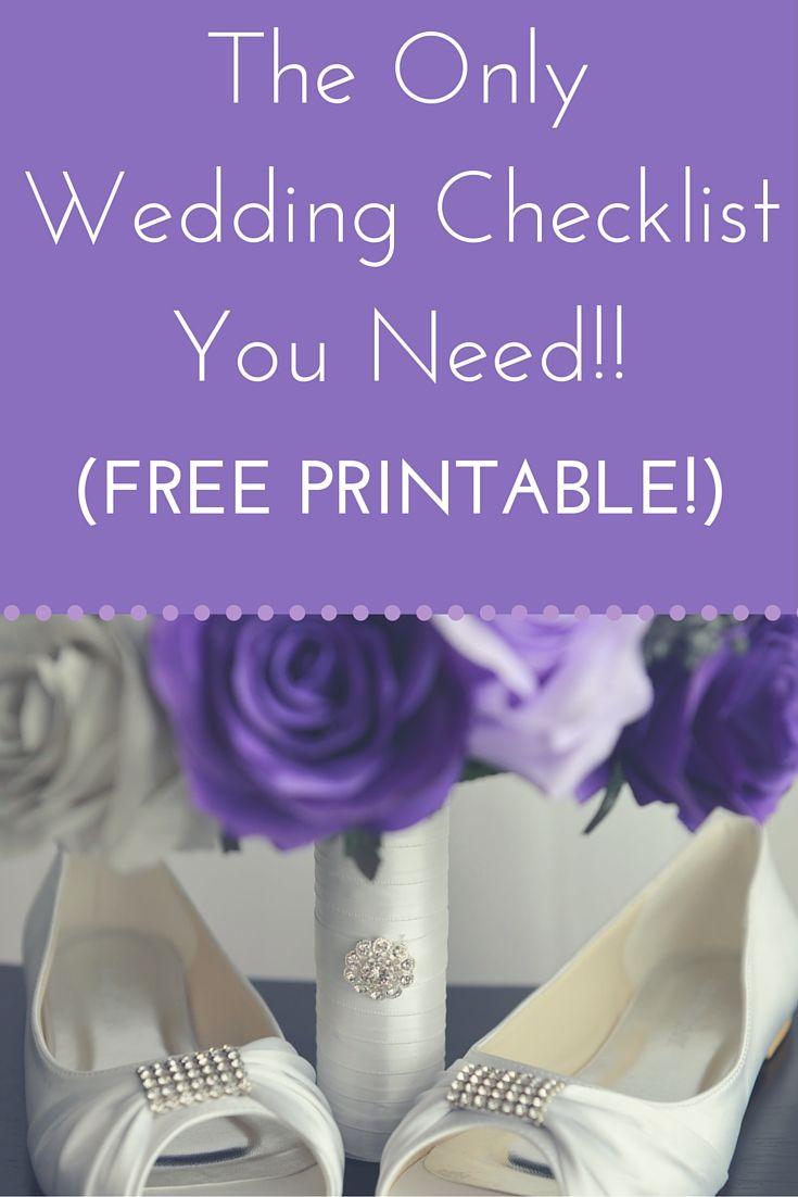 12 month wedding checklist  free printable