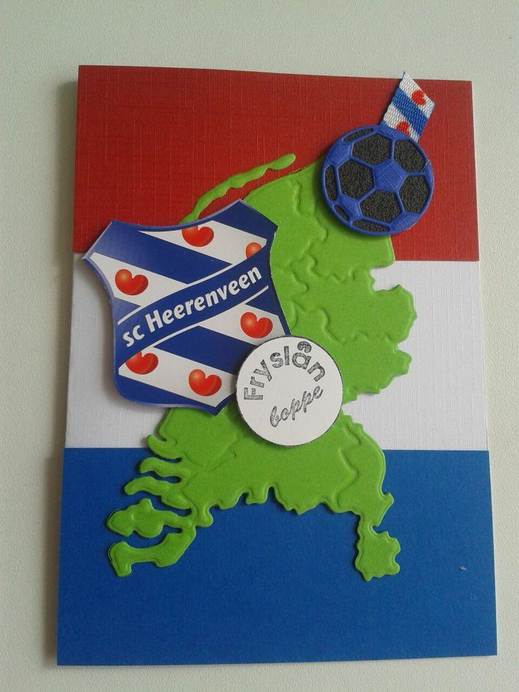 Kaart voor de voetbal liefhebber van Heerenveen.