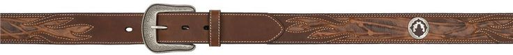 3D BELTS MENS BROWN WESTERN FASHION CONCHO LEATHER BELT W/ REMOVABLE BUCKLE 8202