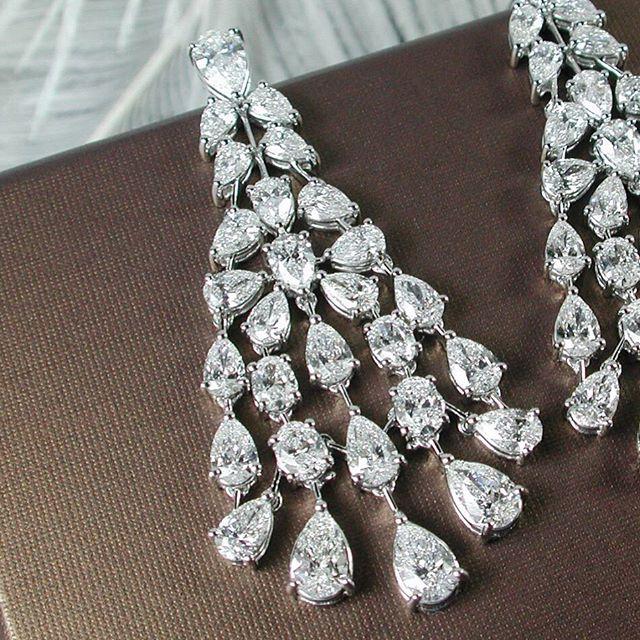 Prima Gems Diamond Chandelier Earrings