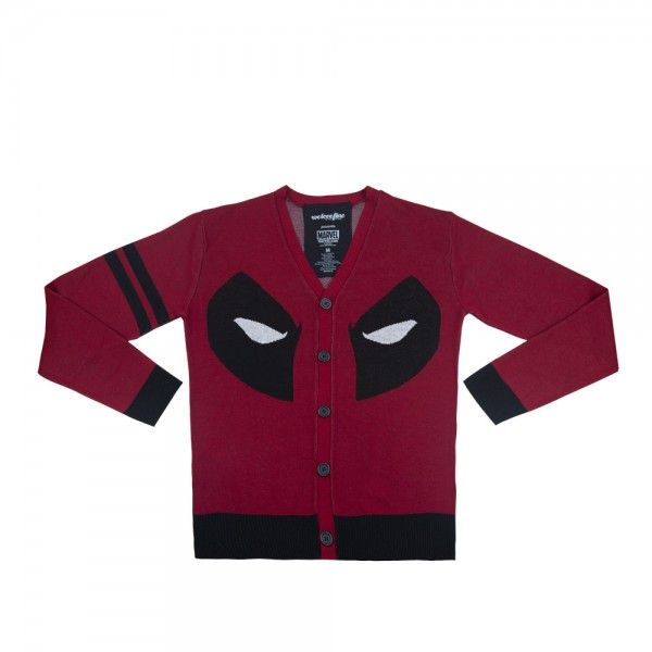 Mr. Wilson Cardigan; holy hell a Deadpool cardigan. I neeeed it. Marvel, comics, Wade Wilson. red and black and crazy awesome