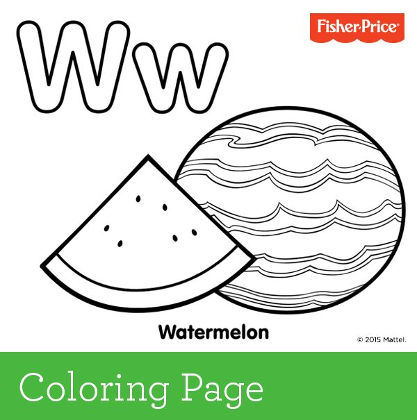 W is for watermelon If your child loves this favorite