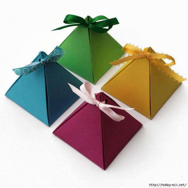 caixa de presente papel pirâmide quadrado branco final (640x640, 133kb)