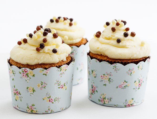 cupcakes με κρέμα λεμόνι