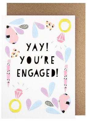 Amelia Paper Lane Yay You're Engaged Card